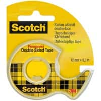Scotch Double Sided Tape Permanent Transparent 12mm x 6.3m