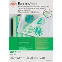 GBC Laminating Pouches Glossy 2 x 125 (250 Micron) A3 Pack of 100