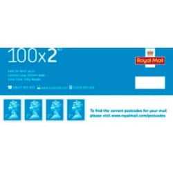 Royal Mail 2nd Class Postage Stamps 100 pieces