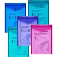 Snopake Document Wallets Electra A4 Assorted Polypropylene 24.5 x 33.5 cm 5 Pieces