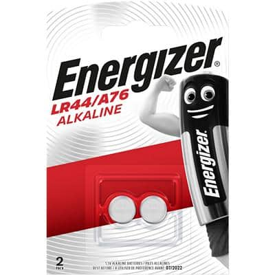 Energizer Button Cell Batteries A76 LR44 1.5V Alkaline Pack of 2
