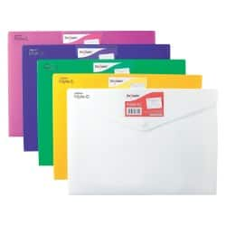 Snopake Document Wallets 12565 A4 Assorted polypropylene 24 x 33.5 cm 5 pieces