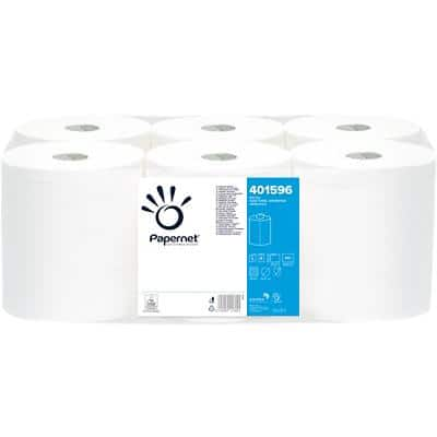 Papernet Hand Towels 401596 2 Ply Centrefeed White 6 Rolls of 450 Sheets