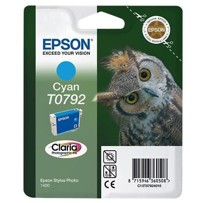 Epson T0792 Original Ink Cartridge C13T07924010 Cyan