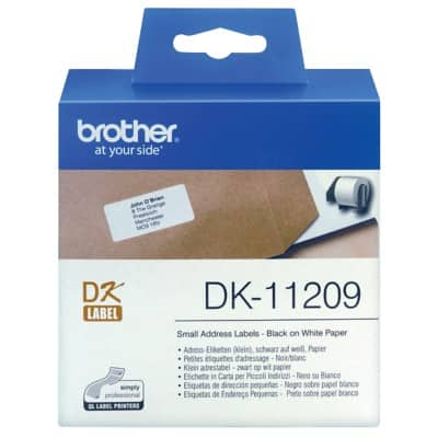 Brother DK-11209 QL Address Labels Small 29 x 62 mm White Roll of 800