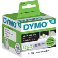 DYMO LW Address Labels 1983172 Black on White Self Adhesive 36 mm x 89 mm 260 Labels