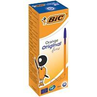 BIC Orange Original Fine Ballpoint Pen 0.3 mm Blue Pack of 20