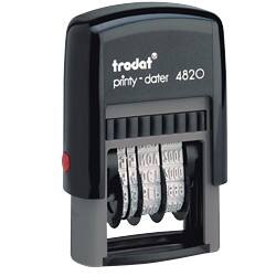 Trodat Ecoprinty Self inking Date Stamp Black