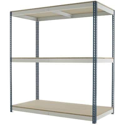 Kwik Rak Shelving Unit with 3 Shelves SX025GXGU 1800 x 900 x 1980mm Dark Grey & Light Grey