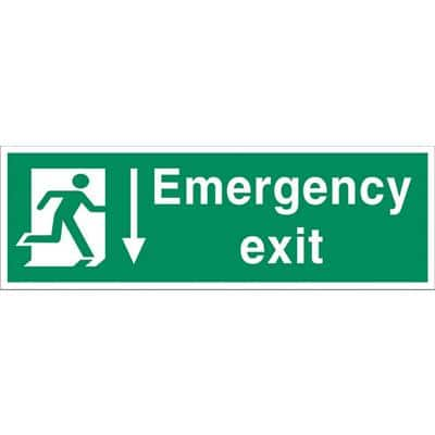 Fire Exit Sign Emergency Exit PVC 60 x 20 cm