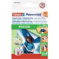 tesa Powerstrips Poster Powerstrips White 40 mm Pack of 20