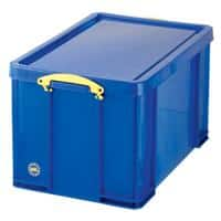 Really Useful Box Plastic Storage 84 Litre Blue 440 x 710 x 380 mm