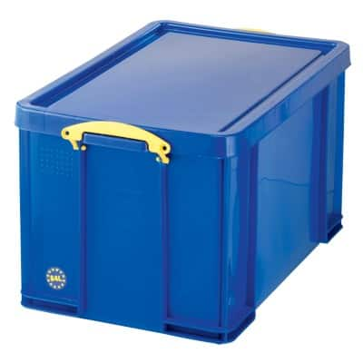 Really Useful Boxes Storage Box With lid Blue 38 x 44 x 71 cm