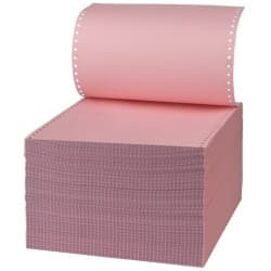 Niceday 2-Ply Ncr Computer Listing Paper, White & Pink, 279 x 241 mm, 54 & 51gsm