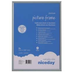Niceday Aluminium Frame Grey 210 x 297 mm 2 Per Pack
