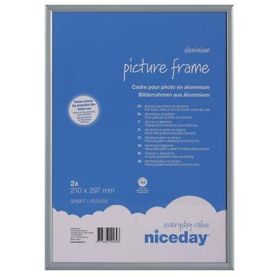 Niceday Wall Mountable Picture Frame 978907 A4 297 x 210 mm Grey Pack of 2