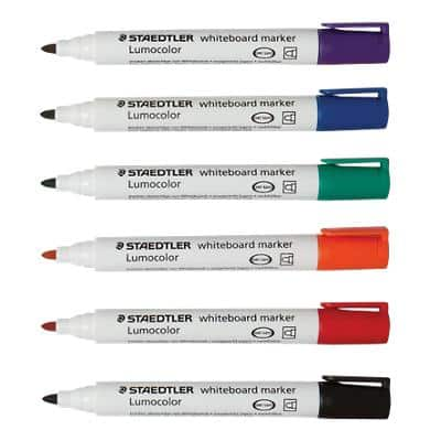 STAEDTLER Whiteboard Marker Medium Round Assorted Pack of 6