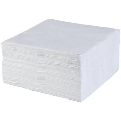 Napkins Paper 33 x 33cm White 100 Pieces