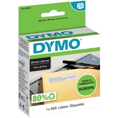 DYMO Address Labels 11352 54 x 25 mm White 500 Labels