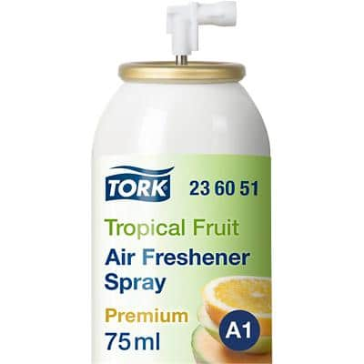 Tork Premium A1 Air Freshener Spray 3000 Sprays Tropical Fruit 75ml