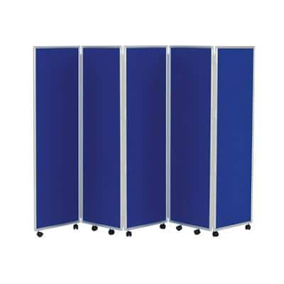 Concertina Screen 609394 Blue 560 x 1,500 mm