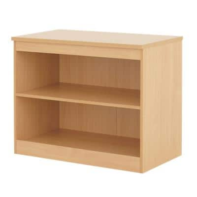 Dams International Bookcase with 1 Shelf Deluxe 1020 x 550 x 725 mm Beech