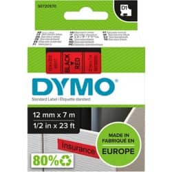 DYMO Labelling Tape 45017 12 mm x 7 m black / red
