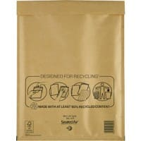 Mail Lite Mailing Bags H/5 79gsm Gold Plain Peel and Seal 360 x 270 mm 50 Pieces