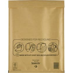 Mail Lite Mailing Bags h/5 79gsm Gold plain peel and seal 50 pieces