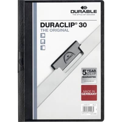 DURABLE Duraclip Clip Files A4 30 sheets 3 mm Black