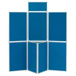 7 Panel Display Unit Blueberry 923 H x 619 W mm