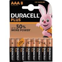 Duracell AAA Alkaline Batteries Plus Power MN2400 LR03 1.5V Pack of 8