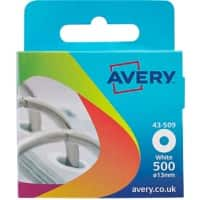 AVERY Reinforcement Rings 43-509 White Ø 13 mm Pack of 500