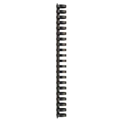 GBC Plastic Binding Combs Black 25 mm 225 Sheets A4 Pack of 50