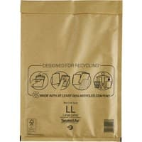 Mail Lite Mailing Bags Large Letter 79gsm Gold Plain Peel and Seal 330 x 230 mm Pack of 50