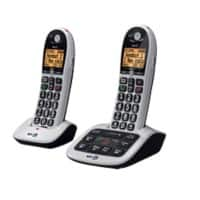 BT BT4600 Twin Cordless Telephone Black, Silver Pack of 2