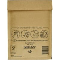 Mail Lite Mailing Bags C/0 79gsm Gold Plain Peel and Seal 210 x 150 mm 100 Pieces