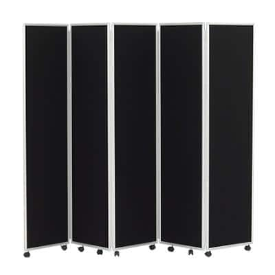Concertina Screen 609388 Black 560 x 1,800 mm