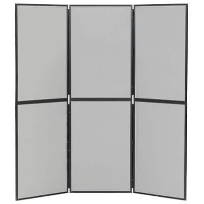 Freestanding Display Stand Nyloop Fabric Double Deck 610 x 915mm Grey