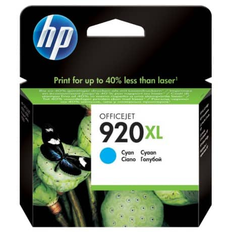 HP 920XL Original Ink Cartridge CD972AE Cyan