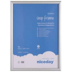 Niceday Aluminium Snap Frame Internal dimensions 594 H x 420 W mm,External dimensions 624 H x 450 W mm