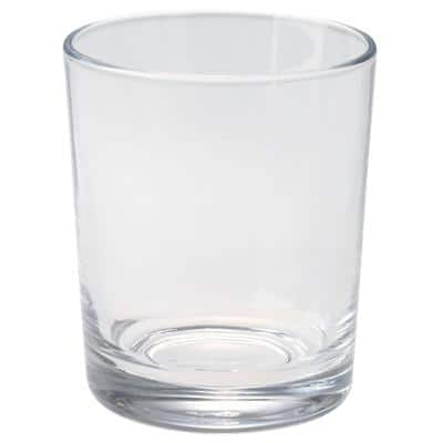 Snap Tumbler Glass 200ml 10cm Transparent Pack of 6