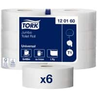 Tork Toilet Paper Maxi Jumbo 1 Ply 6 Rolls of 2400 Sheets