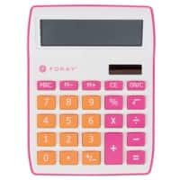 Foray Generation Desktop Calculator 10 Digit Display Pink, Orange