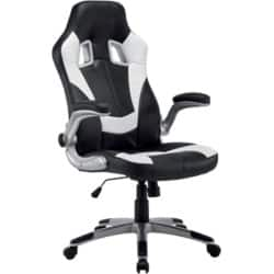 Realspace nitro bonded leather Office Chair Black / White