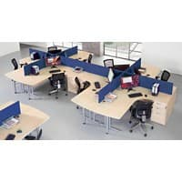 Dams International Desk Screen ES1600S-B Blue 1,600 x 400 mm