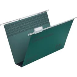 Rexel Crystalfile Classic Suspension Files Manilla 50 mm Capacity Foolscap Green - Box 50