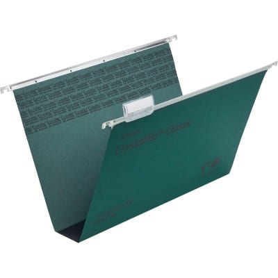 Rexel Vertical Suspension File 71750 Foolscap Green Manila 50 Pieces