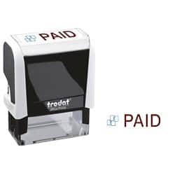 Trodat Printy 4912 Worded Stamp Blue, Red