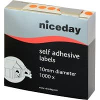 Niceday Coloured Labels Circular Orange 1000 labels per pack